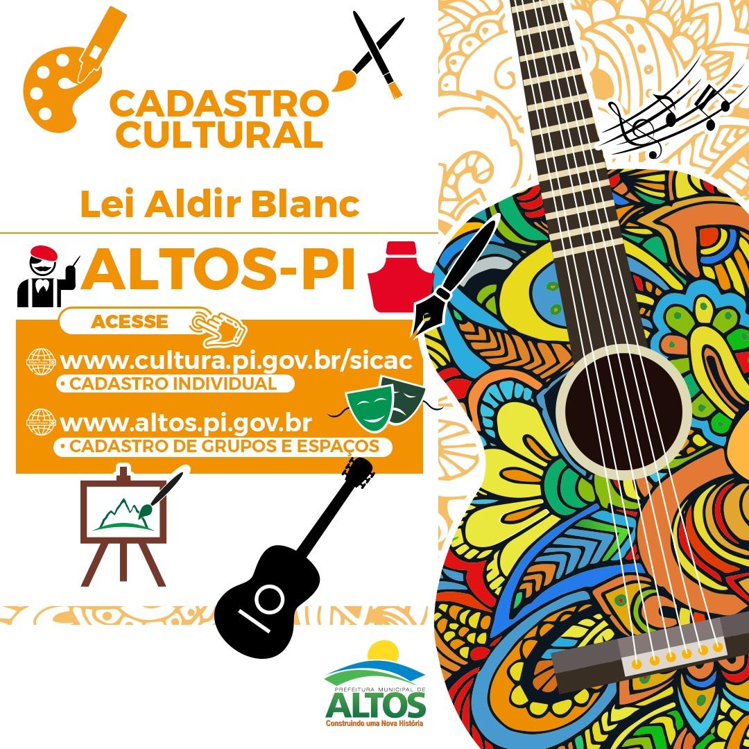 Prefeitura de Altos divulga cadastros aprovados grupos e espaços culturais para auxílio da Lei Aldir Blanc