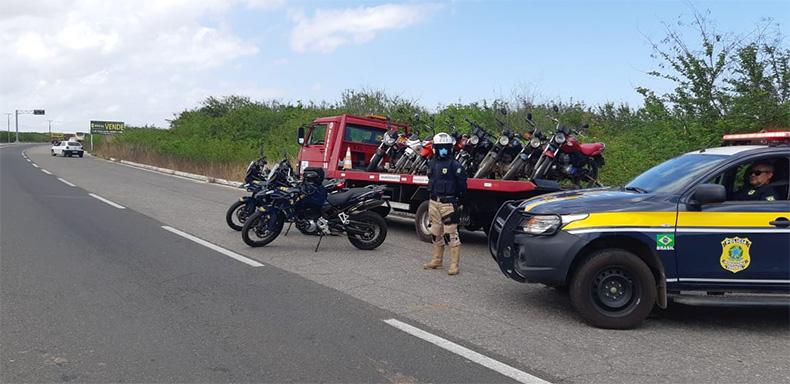 Operação da PRF prende seis e apreende quase 40 motos no Piauí
