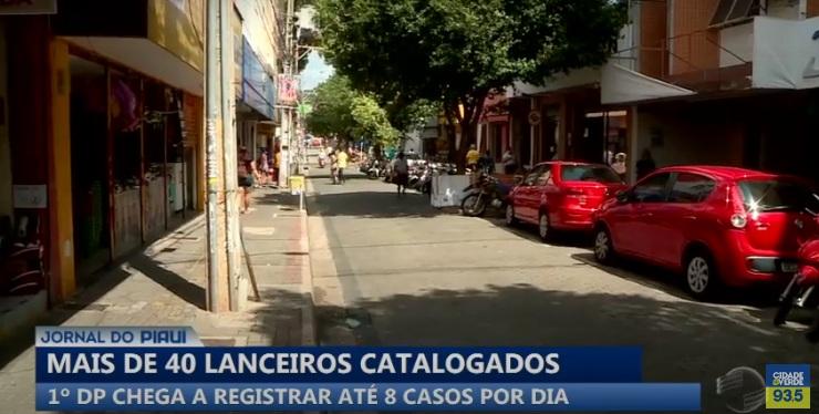 Polícia identifica mais de 40 lanceiros que roubam no Centro de Teresina