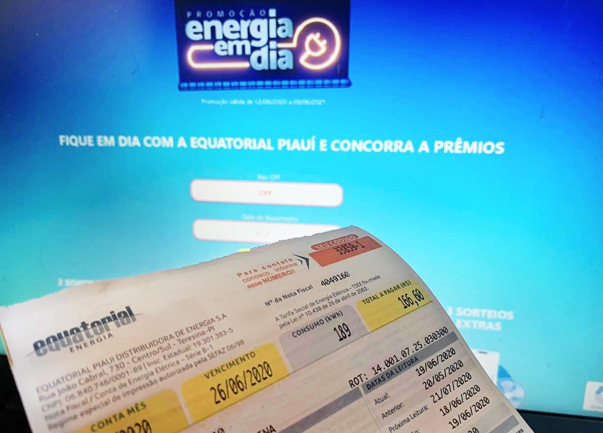 """Cliente de Altos ganha prêmio na """"Promoção Energia em Dia"""" da Equatorial Piauí"""