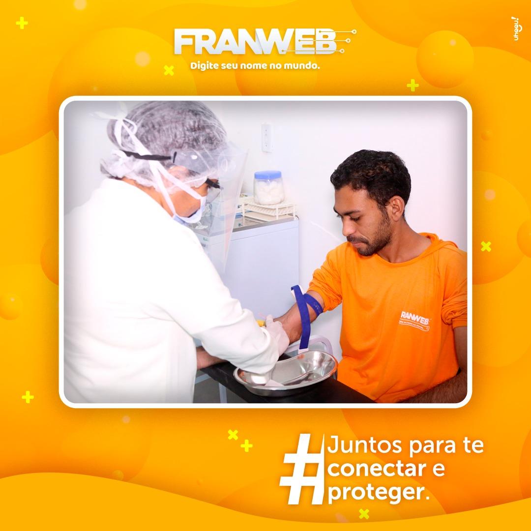 Franweb: empresa realiza testagem em funcionários; exames dão negativo para Covid-19