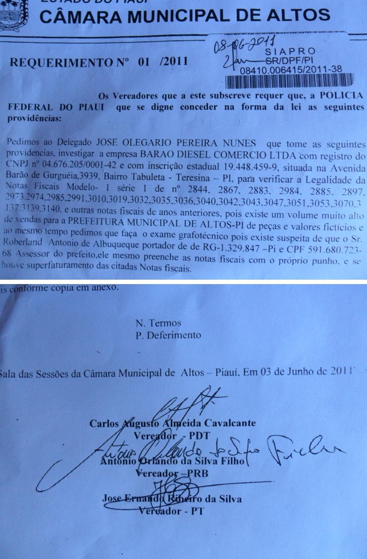 Caso Barão: vereadores protocolam pedido de investigação na Polícia Federal