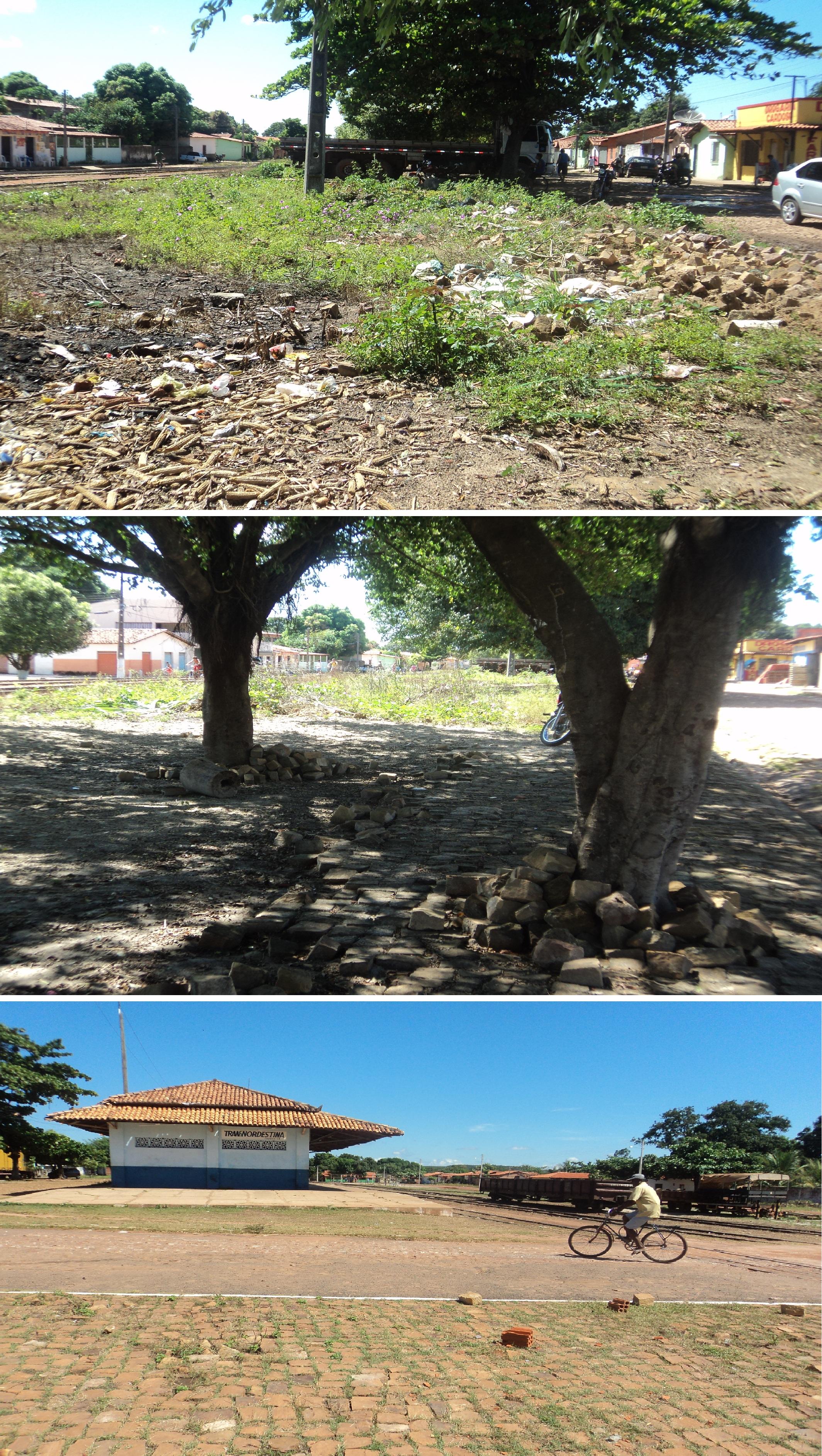 Obra inacabada: Praça dos Ferroviários encontra-se abandonada