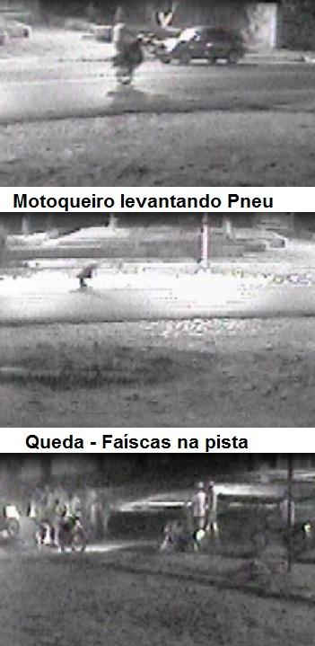 Câmera flagra irresponsabilidade de motoqueiro no trânsito de Altos